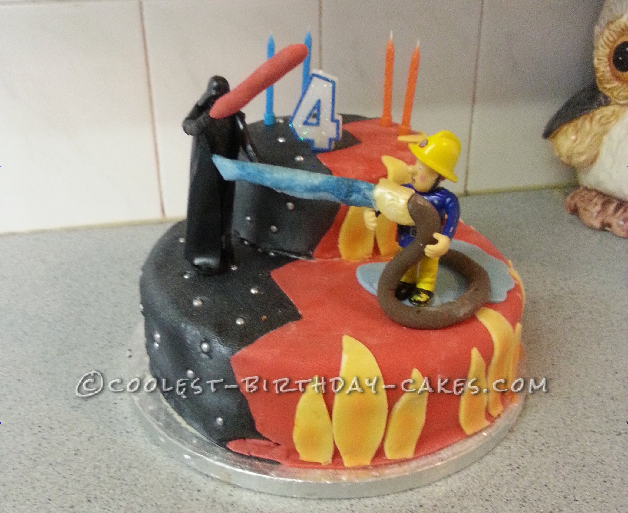 Fireman Sam Vs Darth Vader A Mixed Up Cake For An Indecisive 4