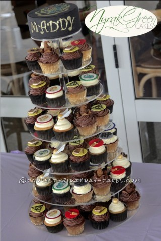 21st Birthday Harry Potter Cupcake Tower