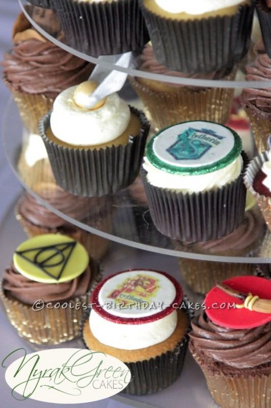 21st harry potter cupcake tower 7907 532x800 harry potter birthday cupcake ideas on 21st birthday cakes central coast nsw