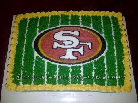 Cool 49ers Fan Football Cake