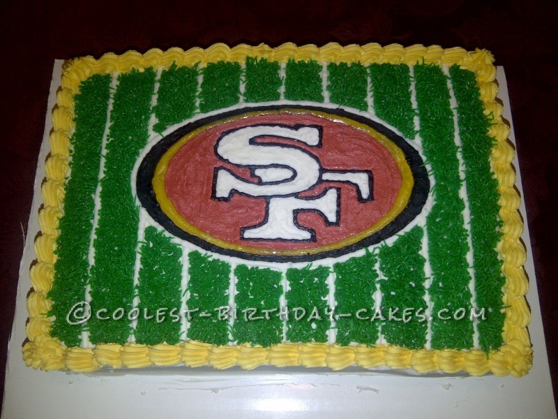 Cool 49ers Fan Football Cake
