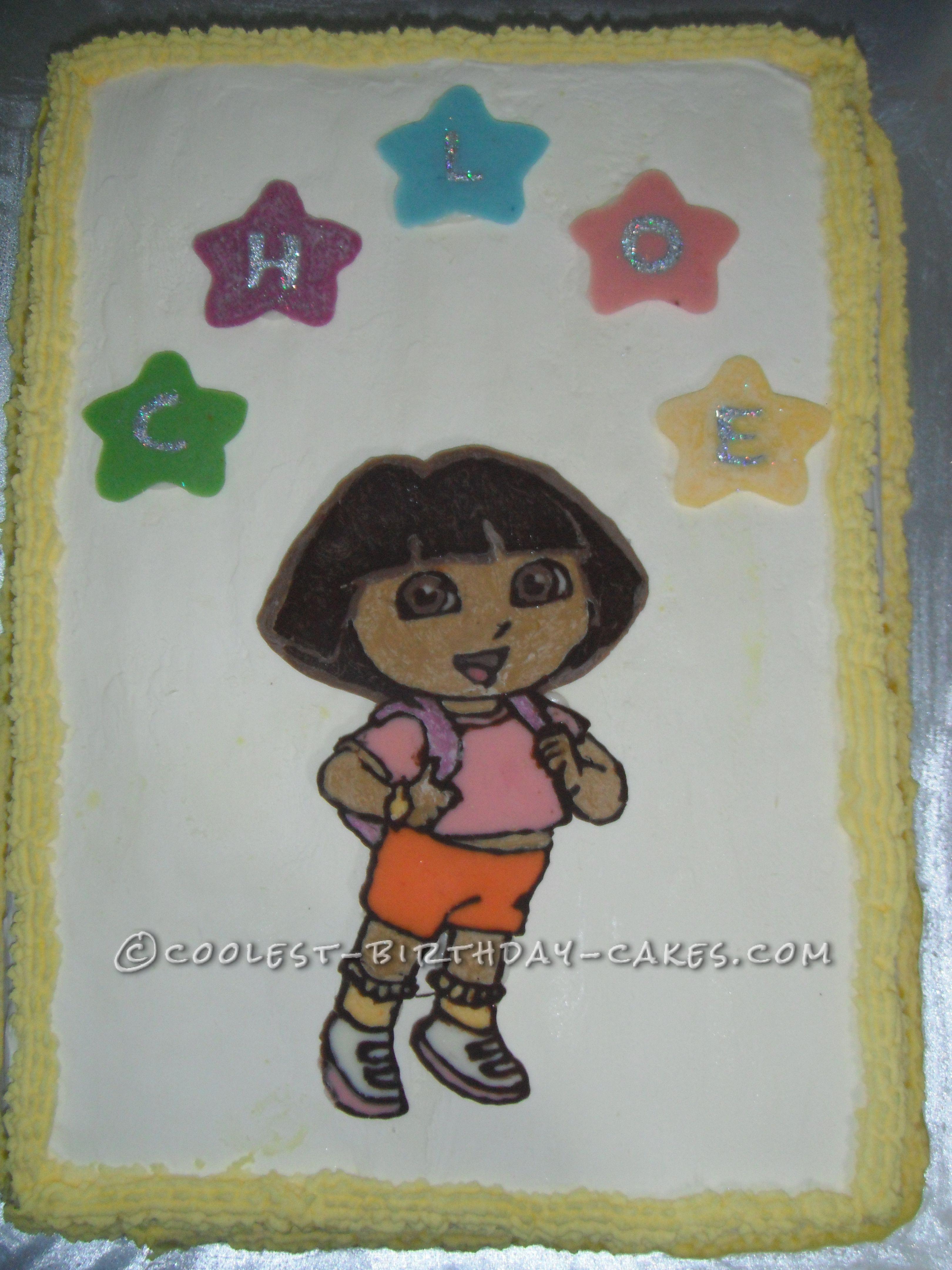 Yummy Ice Cream Dora Cake