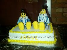 Bananas in Pajamas 1st Birthday Cake