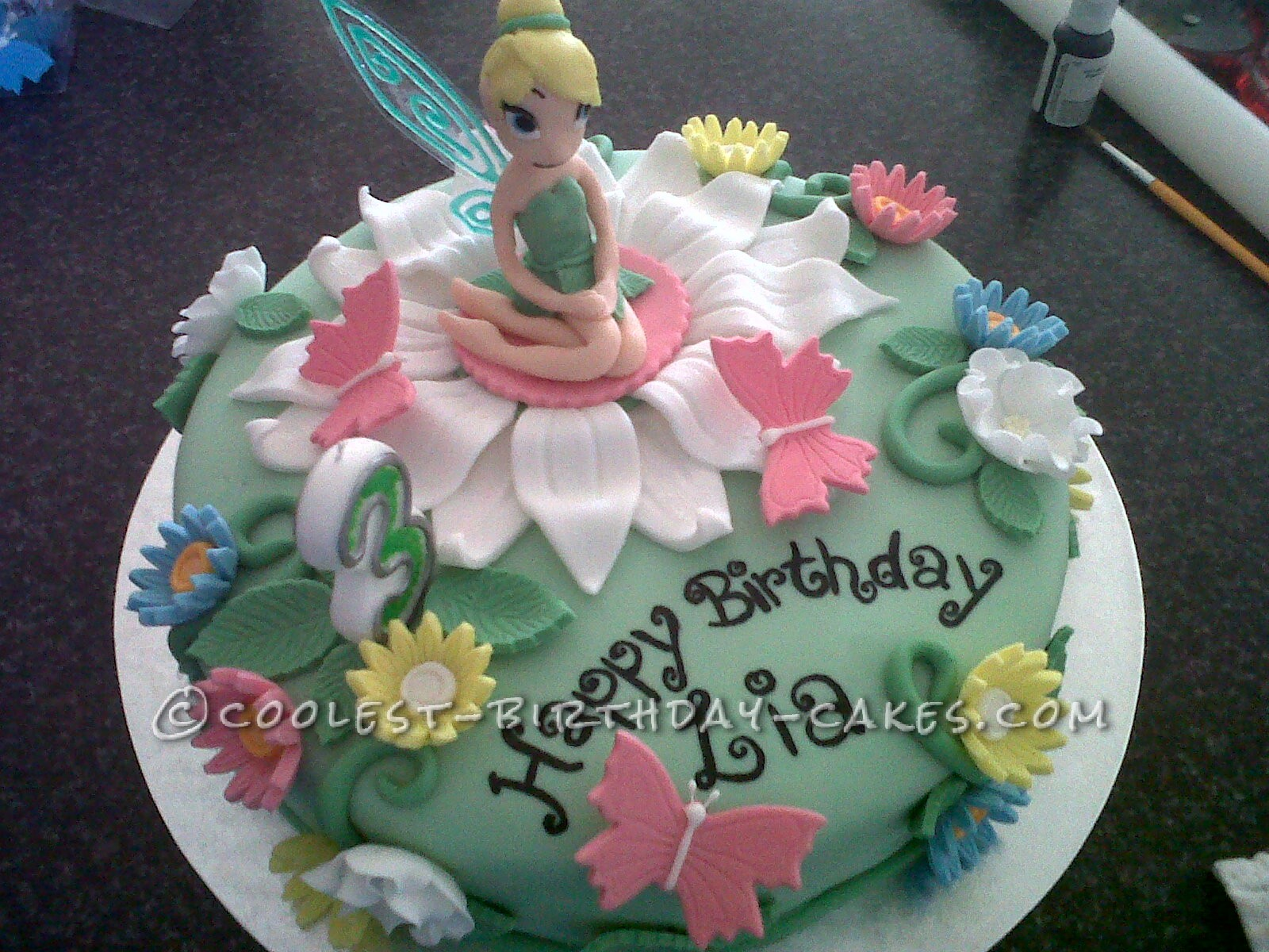 A Real Tinkerbell Birthday Cake