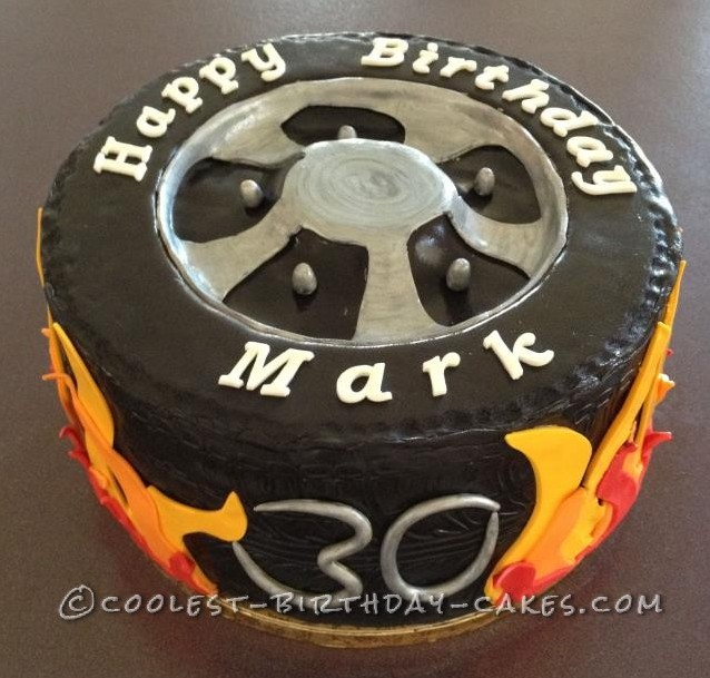 Cool Tyre Cake For A 30 Year Old Rev Head