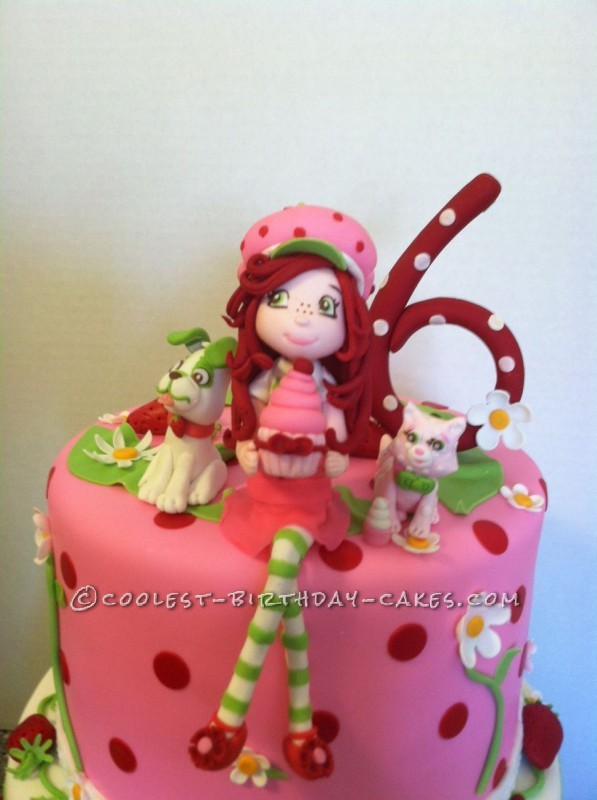 Absolutely the Cutest Strawberry Shortcake and Friends Cake