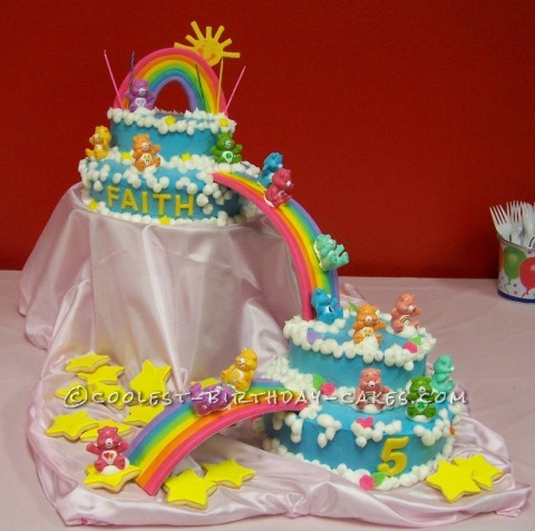 Awesome (But Easy) Care Bears Cake