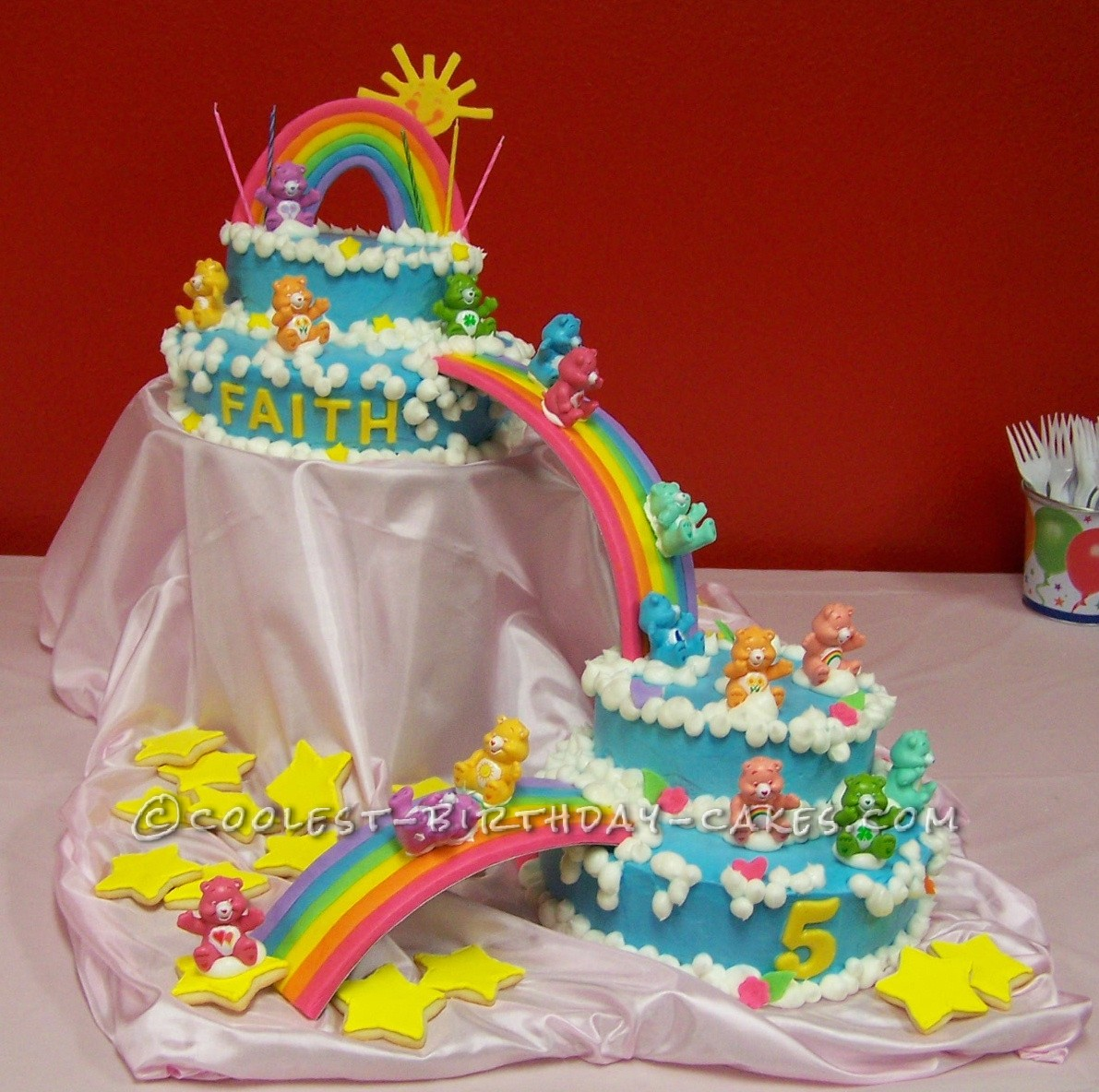 Awesome But Easy Care Bears Cake