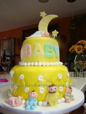 Cool Homemade Baby Shower Cake