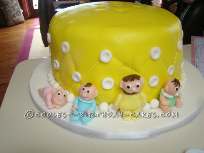 cool homemade baby shower cake