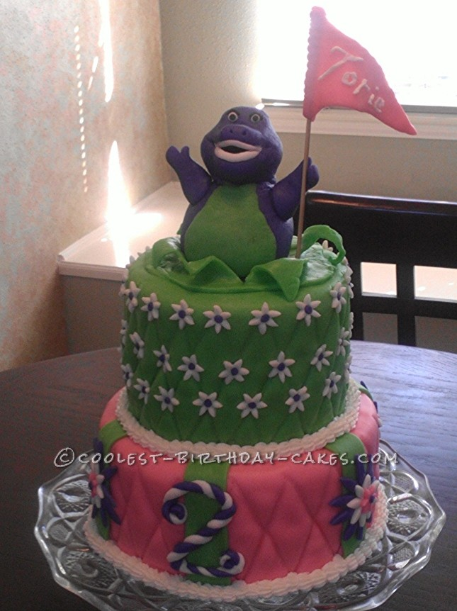Coolest Barney Birthday Cake
