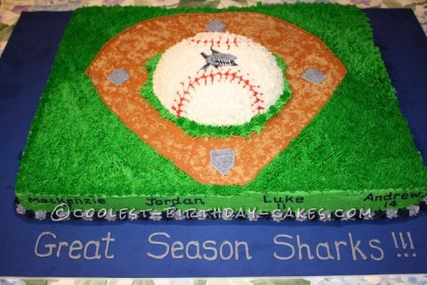 Coolest Baseball Diamond Cake