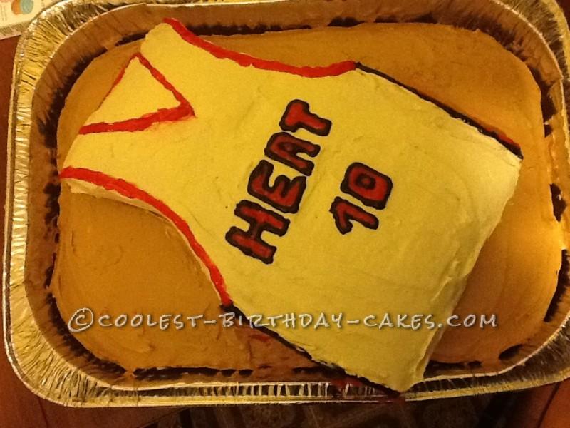 Cool Basketball Jersey Cake