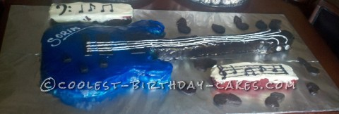 Coolest Bass Guitar Cake