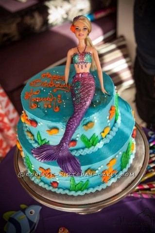 Beautiful Mermaid Cake for my Little Mermaid
