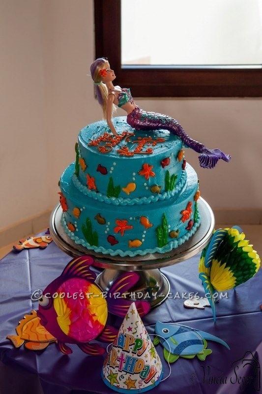 Beautiful Mermaid Cake for my Little Mermaid