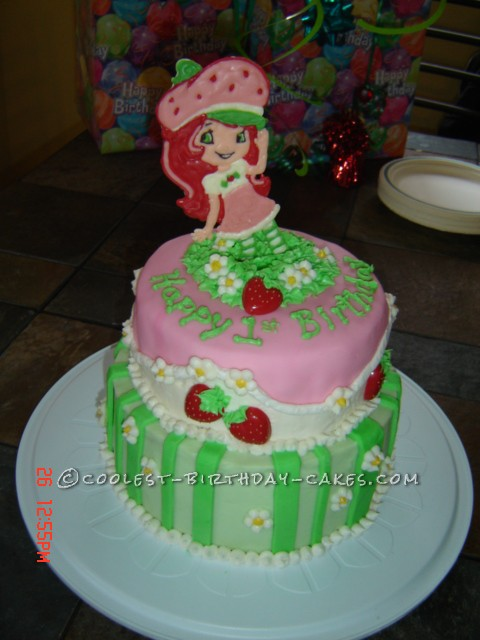 Terrific Sweet Strawberry Shortcake Birthday Cake Personalised Birthday Cards Cominlily Jamesorg