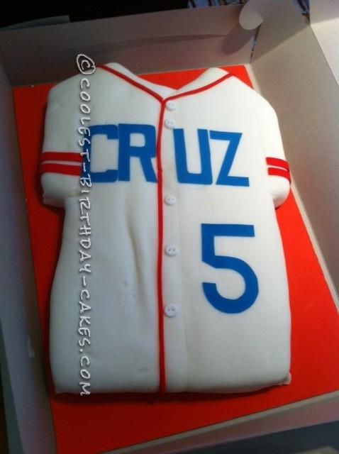 Coolest Baseball Jersey Cake