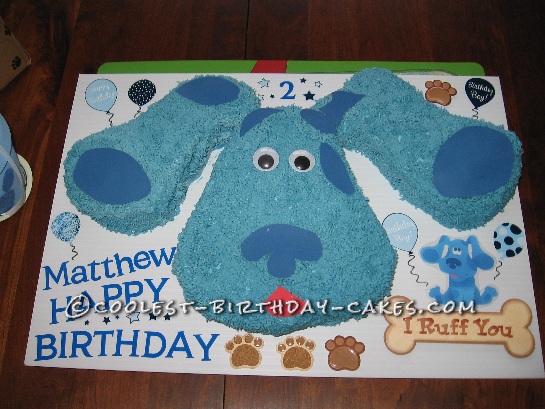 Coolest Blue's Clues Birthday Cake
