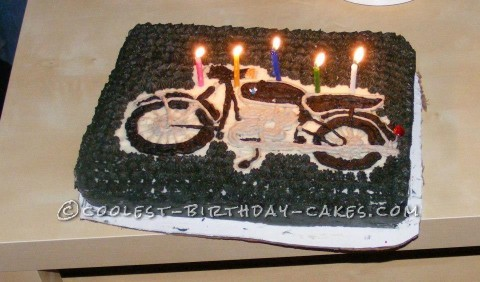 Cool BMW R69S Birthday Cake