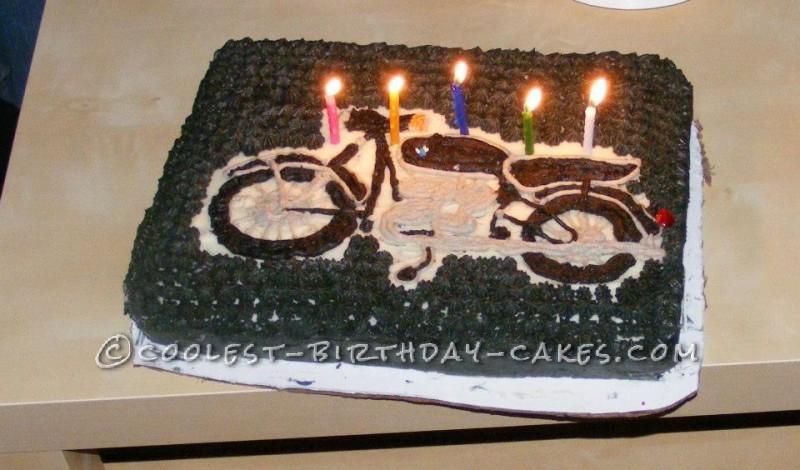 Enjoyable Coolest Homemade Motorcycles And Harley Davidson Emblems Cakes Personalised Birthday Cards Epsylily Jamesorg