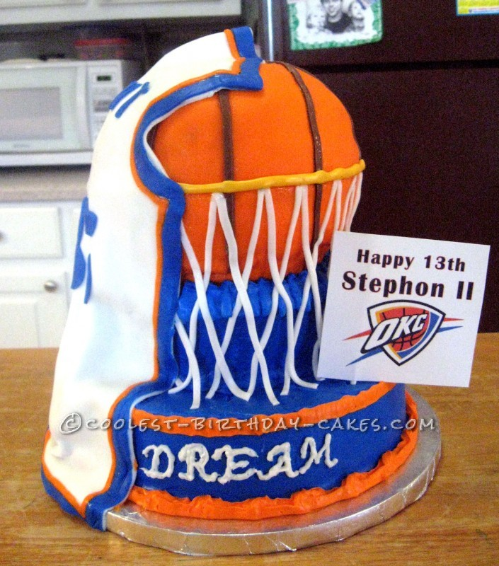 Astounding Awesome Mvp Basketball Birthday Cake Funny Birthday Cards Online Alyptdamsfinfo