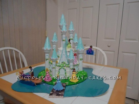 Breathtaking Disney Princess Castle Cake