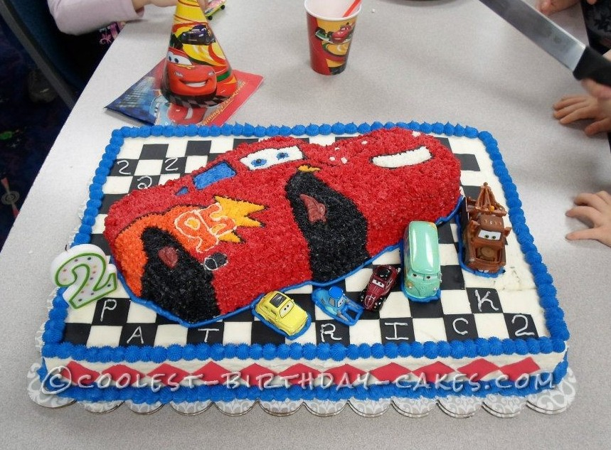 Cool Cars Cake For A 2 Year Old Boy