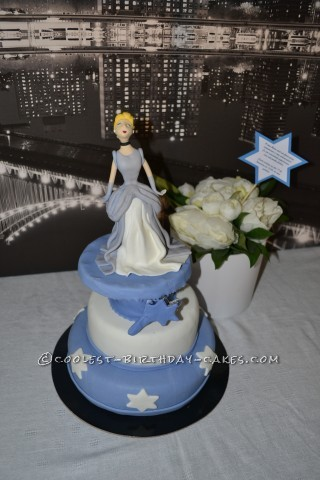 Cinderella in New York Birthday Cake