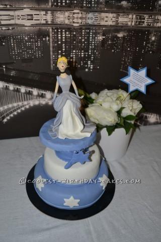 Cinderella in New York Birthday Cake