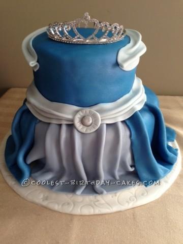 Coolest Cinderella's Gown Birthday Cake
