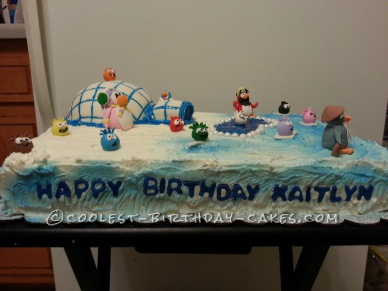 Amazing Coolest Club Penguin Cake For A 9 Year Old Girl Funny Birthday Cards Online Alyptdamsfinfo