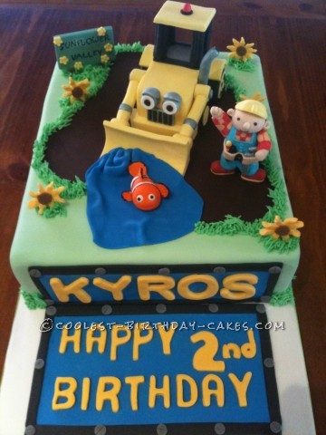 Cool Bob the Builder/Nemo Birthday Cake
