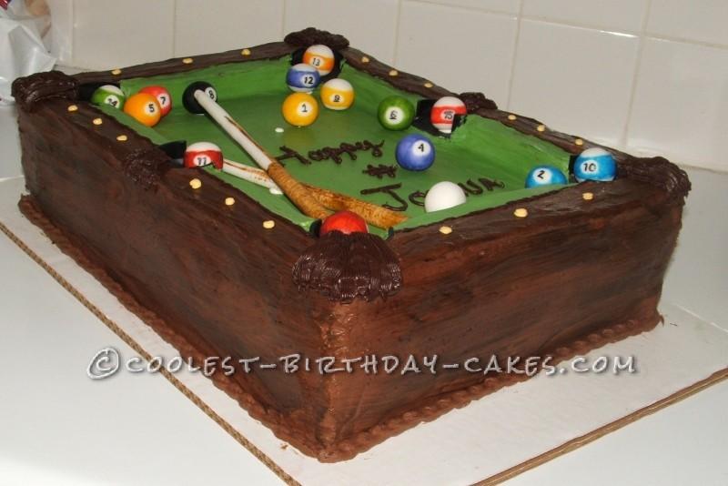 Enjoyable Coolest Homemade Billiards Cakes Personalised Birthday Cards Akebfashionlily Jamesorg