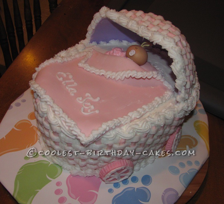 Coolest Baby Ella Carriage Cake