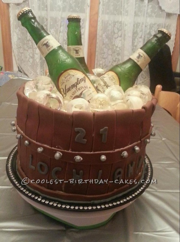 Coolest Bucket 'O' Beer Cake