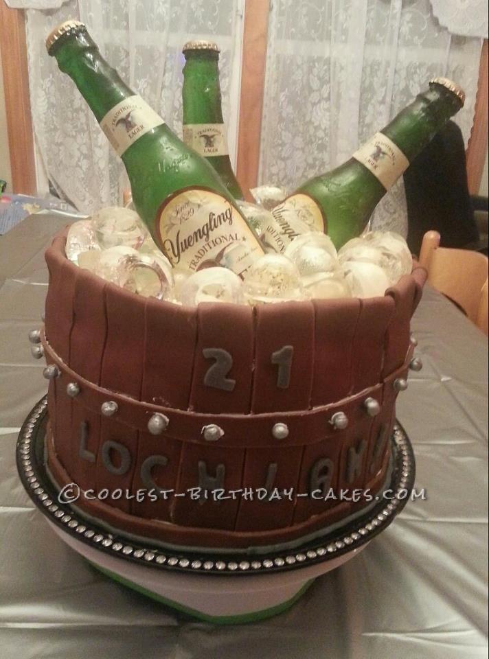Coolest Bucket 'O' Beer Cake