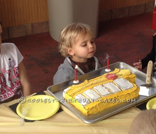Coolest Bus Cake Celebrating An Unexpected Double Birthday!