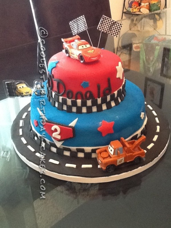 Birthday Cake Designs For A 2 Year Old Boy : Coolest Cars 2 Cake for a 2-Year-Old Boy