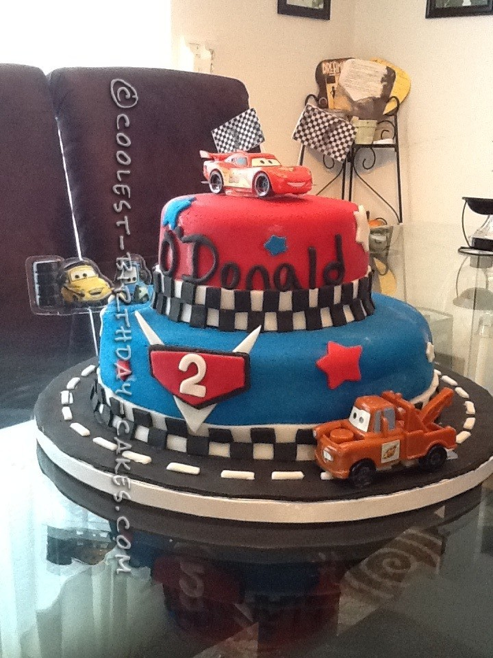 Strange Coolest Cars 2 Cake For A 2 Year Old Boy Funny Birthday Cards Online Elaedamsfinfo