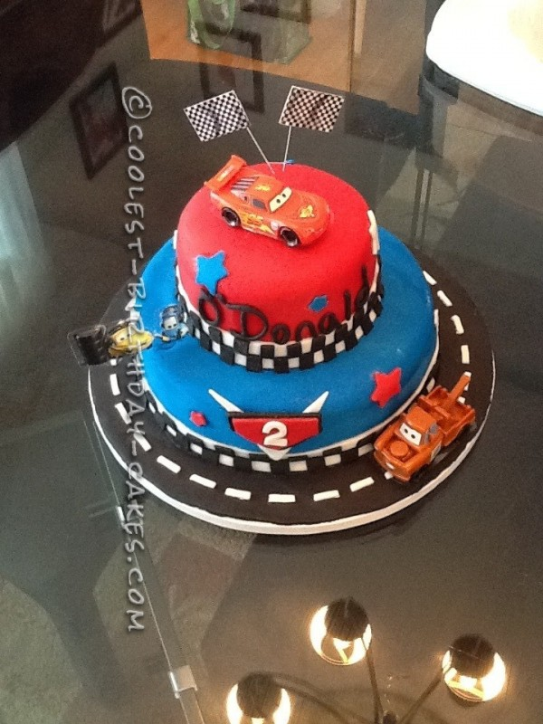 Amazing Coolest Cars 2 Cake For A 2 Year Old Boy Funny Birthday Cards Online Elaedamsfinfo