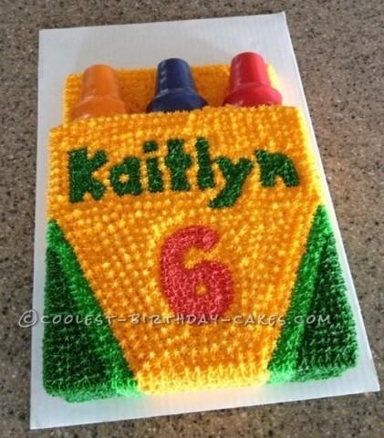 Coolest Crayola Crayon Box Cake