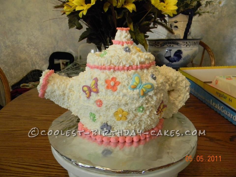 Cute Little Tea Pot Cake