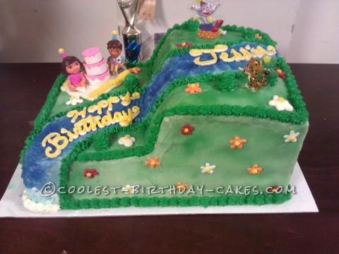 Coolest Dora the Explorer Cake