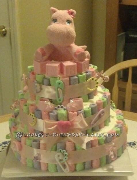 Coolest Edible Diaper Cake For A Baby Shower