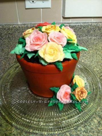 Coolest Flower Pot Birthday Cake
