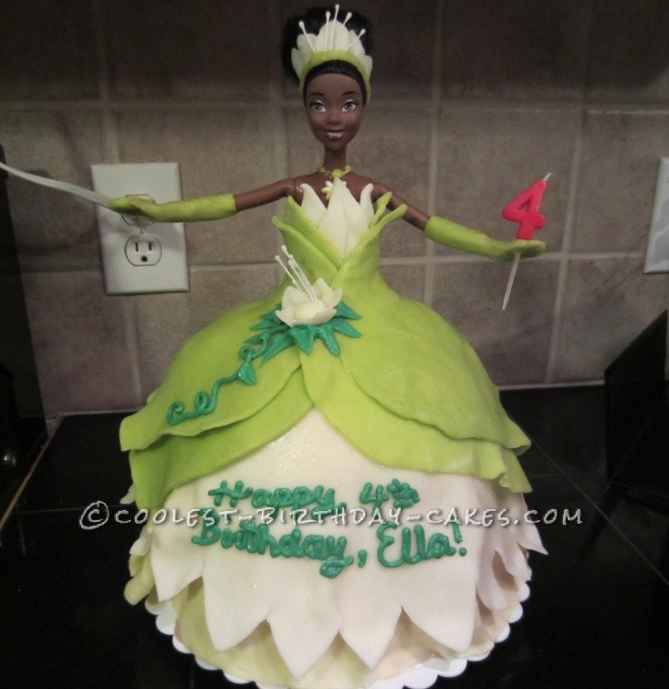 Coolest Ice Cream Tiana Doll 4th Birthday Cake