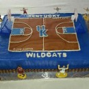 Coolest Kentucky Basketball Cake for a Die hard Kentucky Basketball Fan
