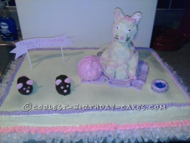 Coolest Kitty Birthday Cake