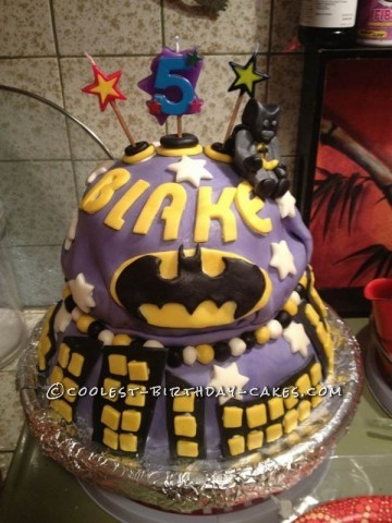 Coolest Lego Batman Cake for a 5-Year-Old